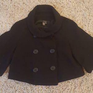 Zara Basics size S black wool cape RaRe Vintage